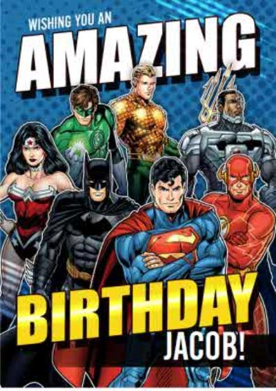 Justice League Amazing Birthday card