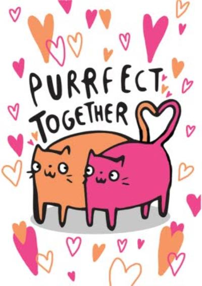 Purrfect Together Cats In Love Card