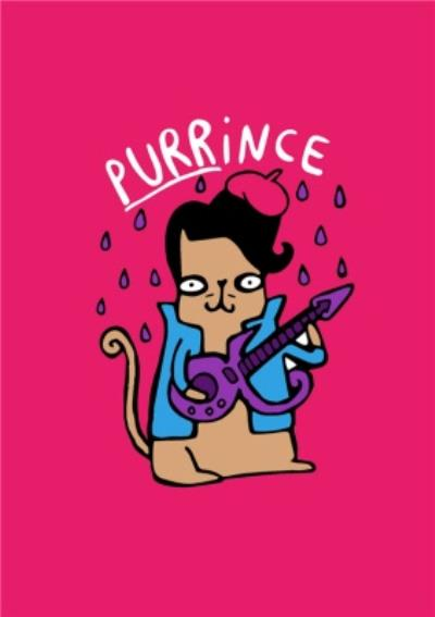 Purrince Cat Music Pun Card