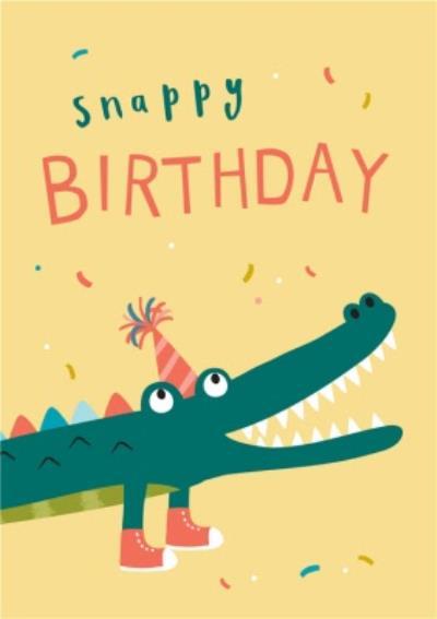 Klara Hawkins Snappy Crocodile Birthday Greeting Card
