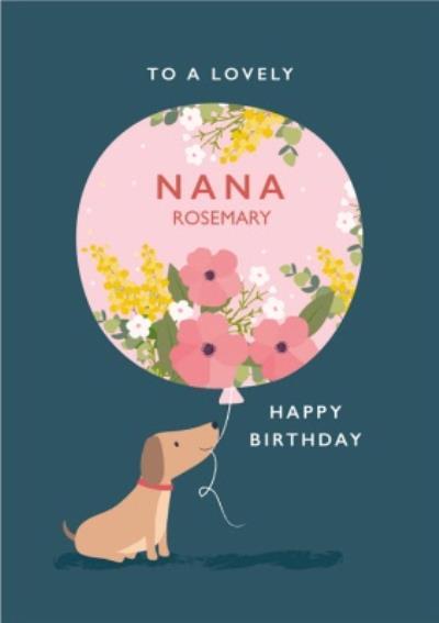 Klara Hawkins Cute Sausage Dog Lovely Nana Birthday Card