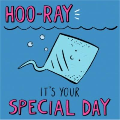 Hooray Its Your Special Day Sting Ray Card