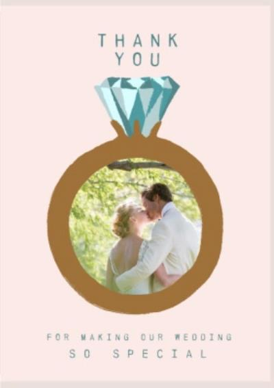 Katy Welsh Illustration of Wedding Ring Thank You For Making Our Wedding So Special Photo Upload Car