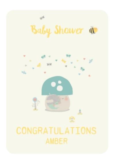 Baby Shower Congratulations Card