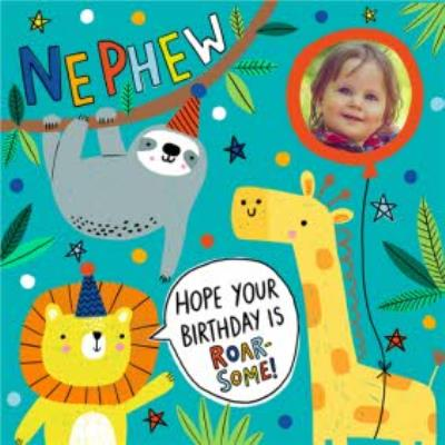 Hope Your Birthday Is Roar-Some Photo Upload Jungle Card