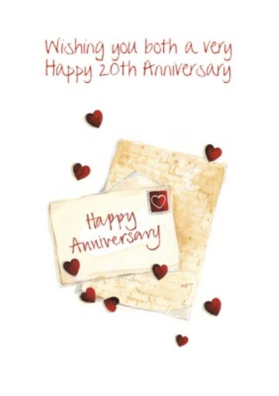 Traditional Personalised 20th Anniversary Postcard