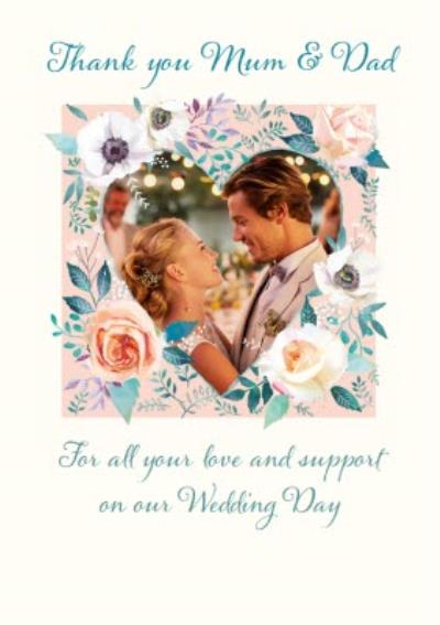 Wedding Thank You Photo Upload Card For Mum And Dad