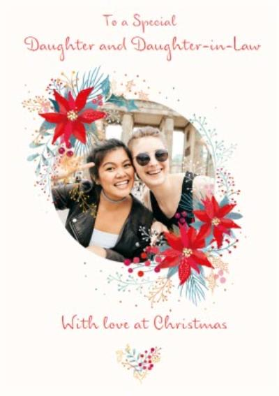 Traditional Christmas Card To a Special Daughter and Daughter in Law Photo Upload