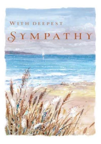 Traditional Seascape Painting Deepest Sympathy Card