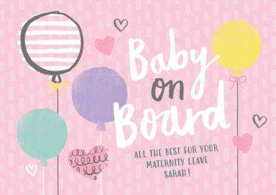 Lovely Day Baby On Board Card