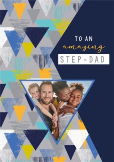 Laura Darrington Modern Amazing Step Dad Photo Upload Father's Day Card