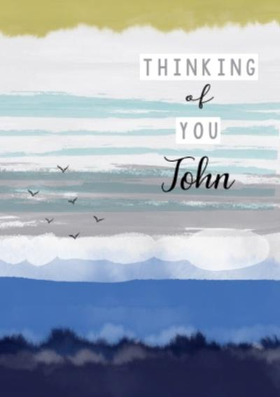 Laura Darrington Modern Illustrated Father's Day Thinking Of You Card