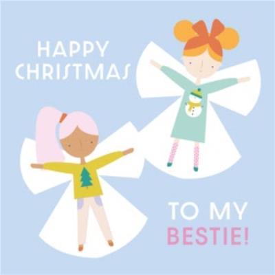 Cute Happy Christmas To My Bestie Card