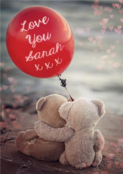 Hugging Bears Personalised Text Card