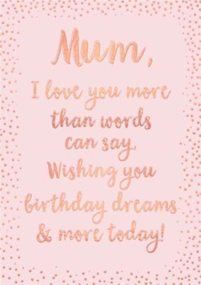 Birthday Card - Limelight Card - Mum - Sentimental - Verse