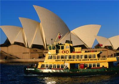 Sydney Ferry And Opera House Personalised Greetings Card
