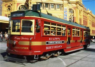Melbourne Tram Personalised Birthday Card