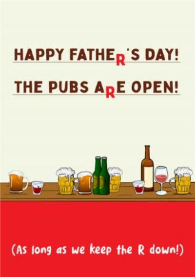The Pubs Are Open Card