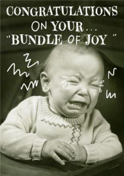 Bundle Of Joy Vintage Crying Baby Card