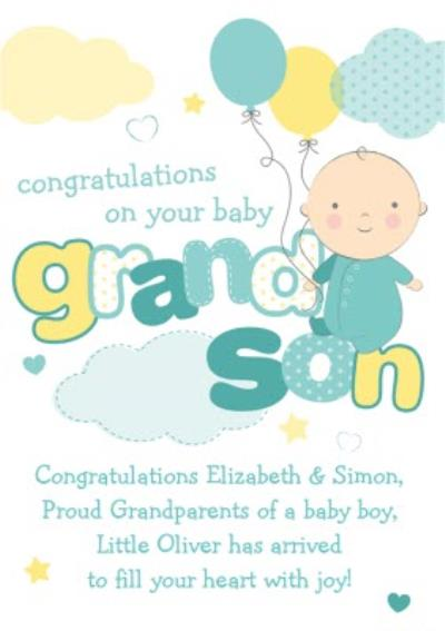 Congratulations On Your New Baby Grandson Card