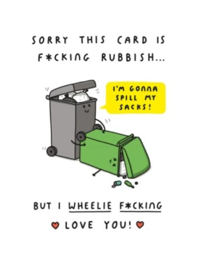 Mungo And Shoddy Fucking Rubbish Funny Valentine's Day Card