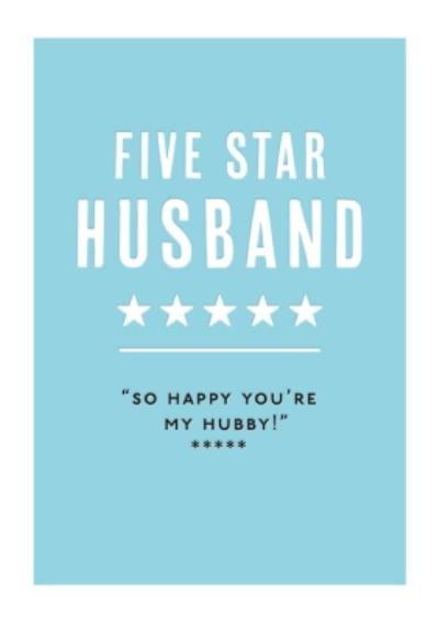 Mungo And Shoddy Type Things Five Star Husband Card