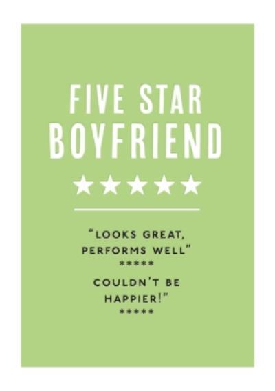 Mungo And Shoddy Type Things Five Star Boyfriend Card