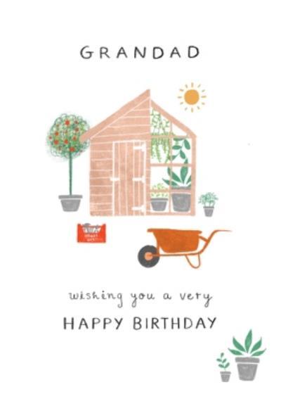 Illustrated Gardening Birthday Card