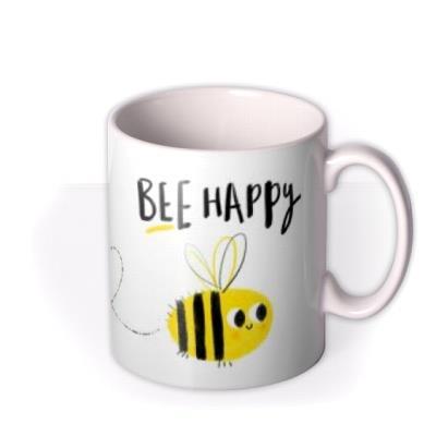 Illustrated Bee Happy Mug