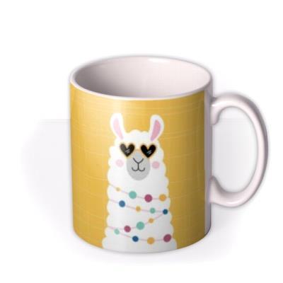 No Drama Llama Illustrated Mug
