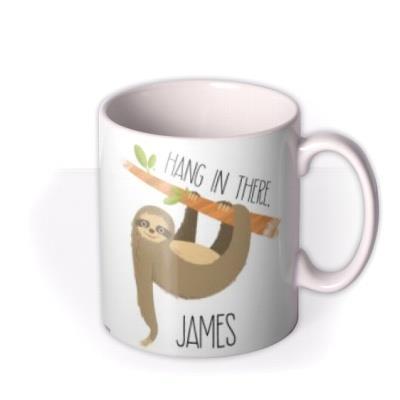 Cute Sloth Illustration Hang In There Photo Upload Mug