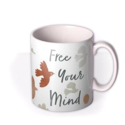Free Your Mind Illustrated Birds Mug