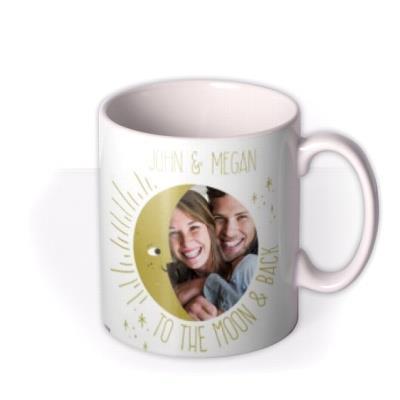 To The Moon And Back Photo Upload Personalised Mug