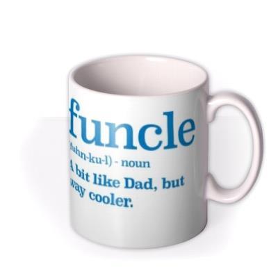 Funcle Description Funny Typographic Mug