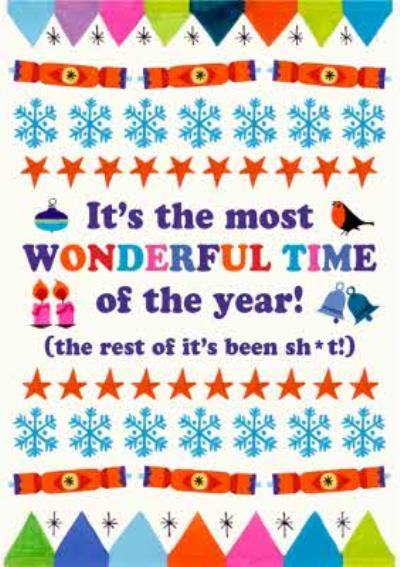 It Is The Most Wonderful Time of the Year Funny Christmas Card