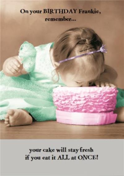 Birhday Card - Photo Humour - Birthday Cake