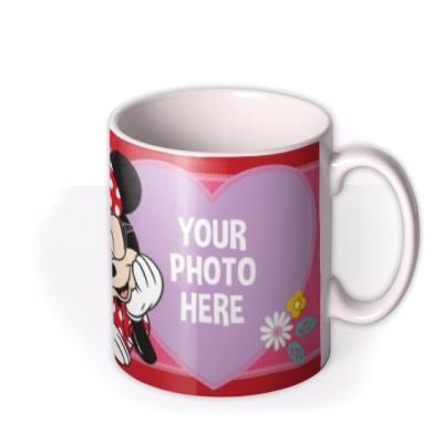 Disney Minnie Mouse Glasses Photo Upload Mug