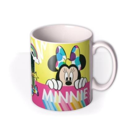 Disney Minnie Mouse Neon Bright Custom Photo Mug
