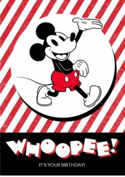 Disney Whoopee Vintage Mickey Birthday Card
