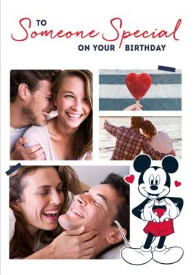 Mickey Mouse Someone Special Photo Upload Birthday Card