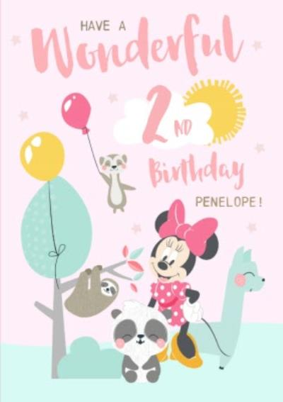Disney Minnie Mouse Have a Wonderful 2nd Birthday