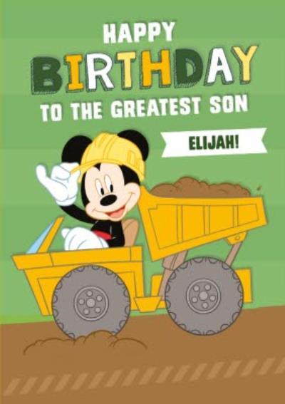 Disney Mickey MouseTo The Greatest Son Birthday Card