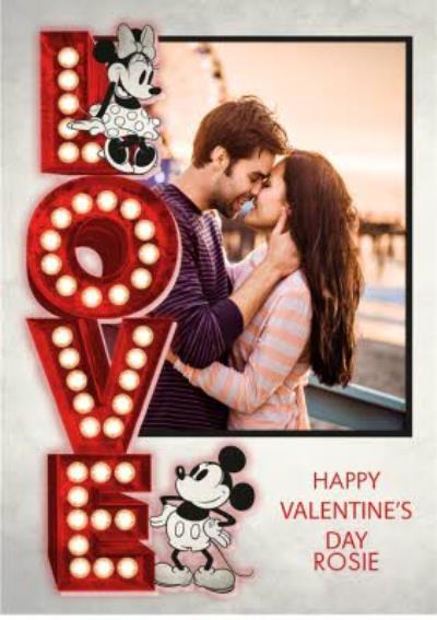 Disney Love Vintage Mickey Photo Upload Card
