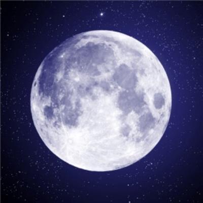 Cool Moon Lunar Photography Card