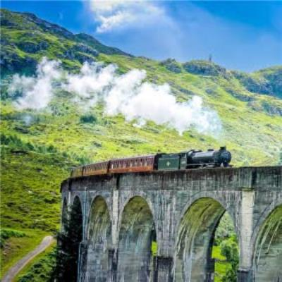 Photographic Beautiful Steam Train Card