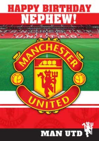 Manchester United Nephew Happy Birthday Card