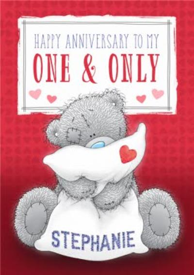 Personalised Tatty Teddy Anniversary Card