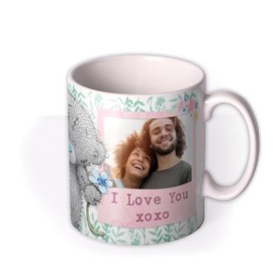 Me To You Tatty Teddy Floral Photo Upload Mug