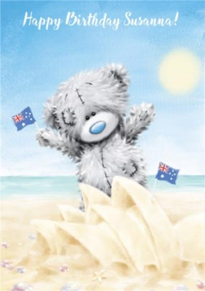 Me To You Austalian Beach Birthday Card