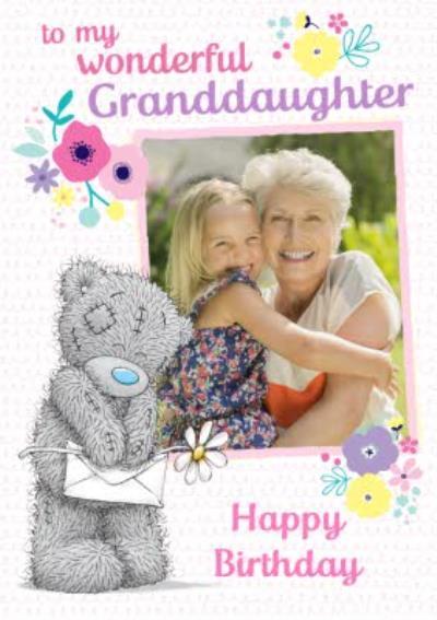 Tatty Teddy Wonderful Granddaughter Photo Upload birthday Card
